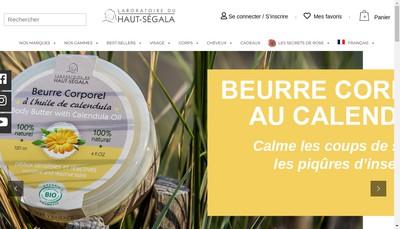Site internet de Laboratoire du Haut Segala