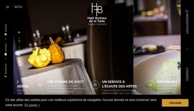 Site internet de Haut Bonheur de la Table