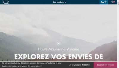 Site internet de Haute Maurienne Vanoise Tourisme