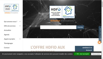 Site internet de Agence Regionale de Developpement et d'Innovation des Hauts-de-France