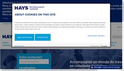 Site internet de Hays Finance