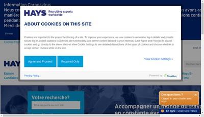 Site internet de Hays Nord