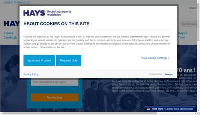 Site internet de Hays Ile de France