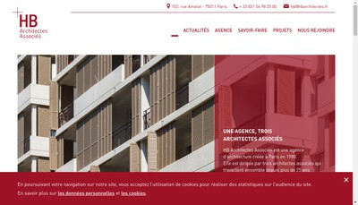 Site internet de HB Architectes