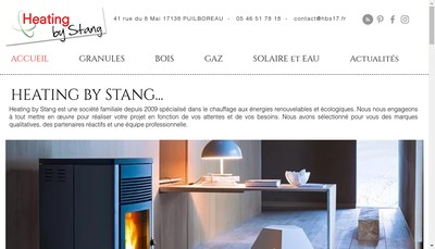 Site internet de Heating By Stang