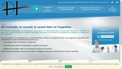 Site internet de Hd Conseils