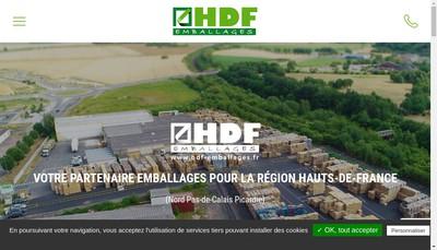 Site internet de Hdf Emballages