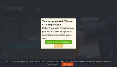 Site internet de Groupe Norlog