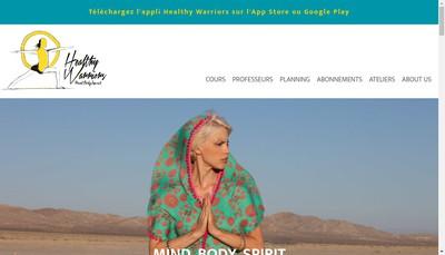 Site internet de Healthy Warriors