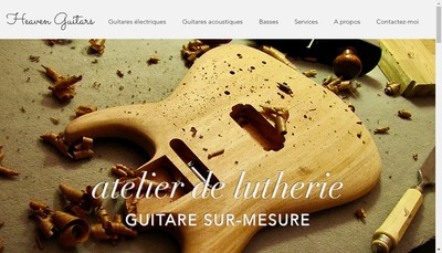 Site internet de Heaven-Guitars