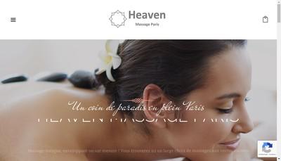 Site internet de Heaven Massage Paris
