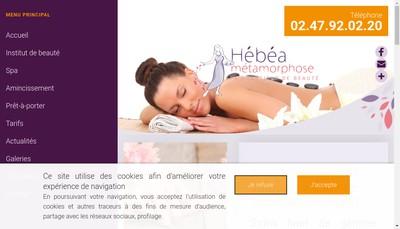 Site internet de SARL Hebea Metamorphose