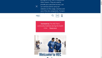Site internet de Hec Paris - Hec
