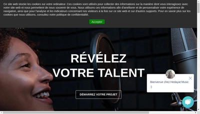 Site internet de Hedayat Music