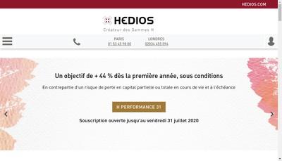Site internet de Hedios Patrimoine