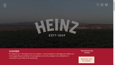 Site internet de HJ Heinz France