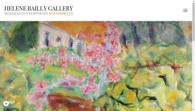 Site internet de Helene Bailly Gallery
