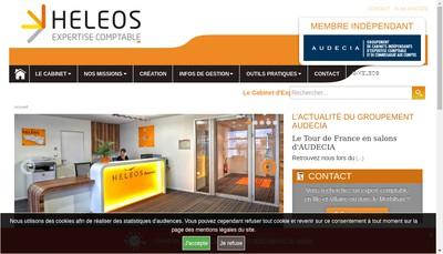 Site internet de Heleos Audit