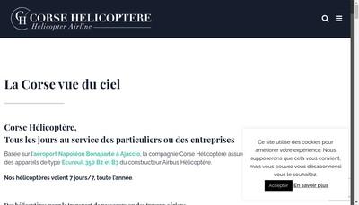 Site internet de Corse Helicoptere