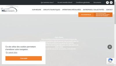 Site internet de Heli Evenements