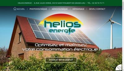 Site internet de Helios Energie