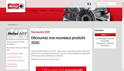 Site internet de Helios Ventilateurs SARL
