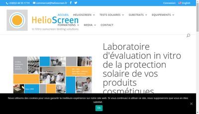 Site internet de Helioscreen