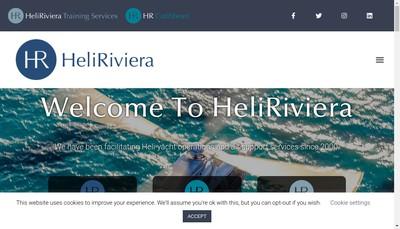 Site internet de Heli Riviera