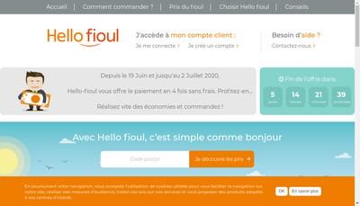 Site internet de Hello Fioul