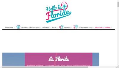 Site internet de Hello la Floride