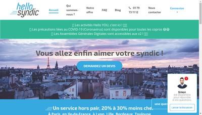 Site internet de Hello Syndic