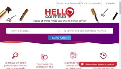 Site internet de Hello Coiffeur
