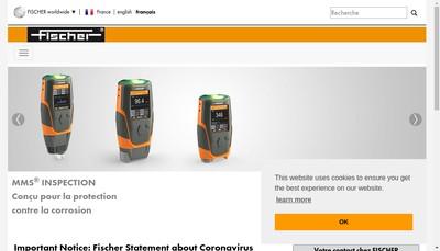 Site internet de Fischer Instrumentation Electronique