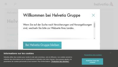 Site internet de Helvetia