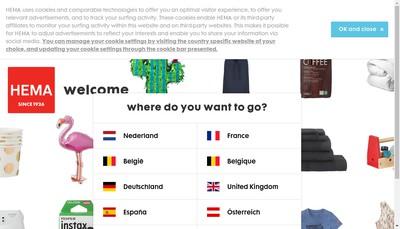 Site internet de Hema France