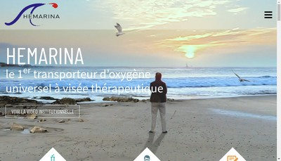 Site internet de Hemarina