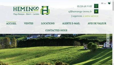 Site internet de Hemengo Immo
