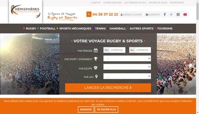 Site internet de Hemispheres Voyages