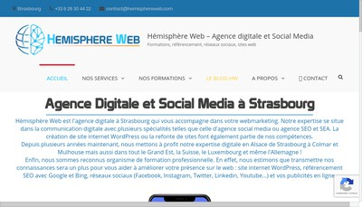 Site internet de Hemisphere Web