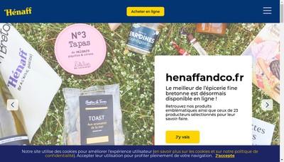 Site internet de Henaff