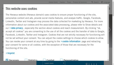 Site internet de Heraeus