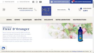 Site internet de Herbes et Traditions Jardin de Paradis