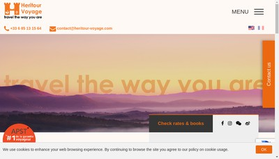 Site internet de Heritour Voyage