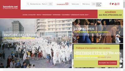Site internet de Herodote