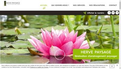 Site internet de SARL Herve Paysage