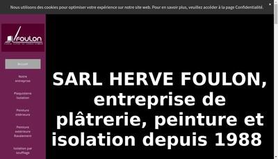 Site internet de SARL Herve Foulon