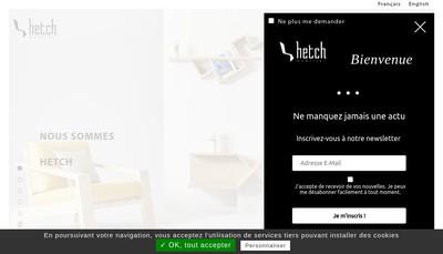 Site internet de Hetch Mobilier