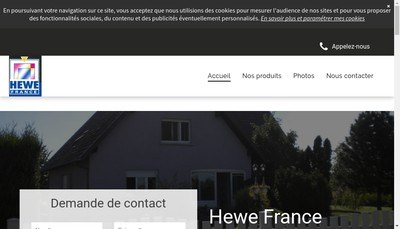 Site internet de Hewe France