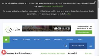 Site internet de Hexabim