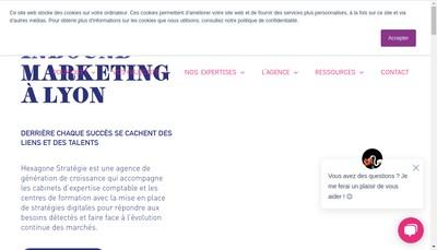 Site internet de Hexagone Strategie